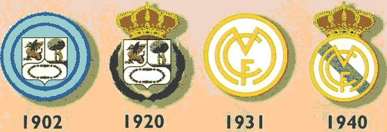 f2a142a879b Voici les différents emblèmes qu  a connus le Real Madrid tout au long de  son histoire